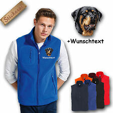 Fleece vest Fleece Vest Embroidered Embroidery Dog Rottweiler + Name