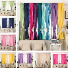 1 Pair Solid Thermal Blackout Curtain Energy Saving Ready Made Curtains Panels