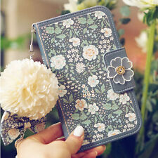 Magnetic Retro Floral Wallet Flip Leather Case Cover For iPhone /Samsung Models