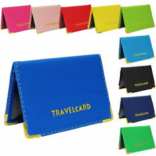 Oyster Card / Travel Card Holder Rail Card / Bus Pass Cover Plain Leather Wallet