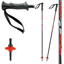 Original LEKI Rider children ski poles, black-red, 1 Pair, NEW