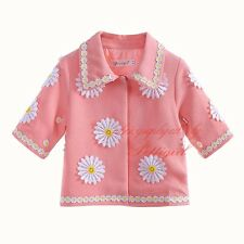 Girls Daisy Jacket Coat Kids Flower Outwear Spring/Autumn Clothes Age 3-12 Years