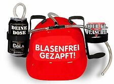 Drinking helmet Cans and Bottle cage m. hose BUBBLE-FREE TAPPED 11800 red