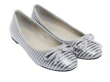 LADIES WOMENS SLIP ON DOLLY SANDALS CONTRAST SEQUIN BALLERINA FLAT SHOES