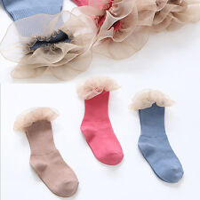 2016 New Baby Girl Socks Newborn Chiffon Lace Socks Cott on Summer Kids Socks Cu