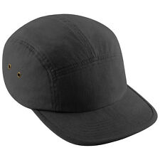 BEECHFIELD BC-681  Plain Retro 5 Panel Sports Baseball Cap 100% Cotton 6 Colours