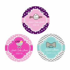 Custom Personalized Round Baby Shower 1st Birthday Favor Labels Stickers Q21122