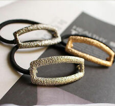 Fashion Hollow Hair Cuff Stretch PonyTail Elastic Rope Band Hair Tie Holder Ring