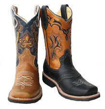 children youth sizes cowboy boots leather square toe rodeo boys western best $$$