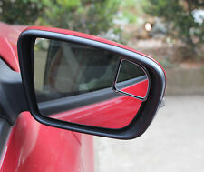 Vehicle Car Fanshaped Wide Angle Rear View Side Blind Spot Convex Mirror Black