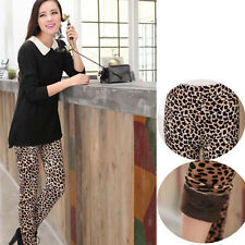 Sexy Leopard Print Seven Pattern Add Wool Thicken Tights Ninth Pants