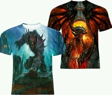 NEW ALL OVER PRINT WOW WORLD OF WARCRAFT VIDEO GAMES T-SHIRT ALL SIZES!