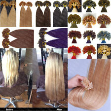 "50S/100S 16""-26"" Pre Bonded U/Nail tip Keratin 100% Remy Human Hair Extensions"