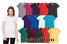 Womens 2 Pack Bella Canvas The Favourite T Shirt Crew Neck, 16 tshirt Colours