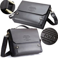 POLO Genuine Leather Messenger Bag Portable  Business Laptop Men's Travel Bag