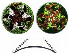 "Silver Creek Jen Delyth 10"" Celtic Horse Art Glass Panel / Suncatcher ~ 2 Colors"