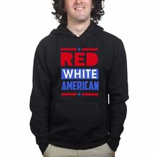 Red White Blue American Flag 4th of July Independence Day Sweatshirt Hoodie