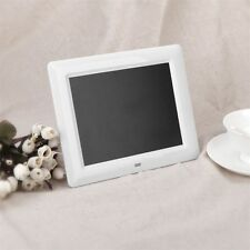 "7"" LCD HD High Resolution Digital Picture Photo Frame MP3/4 Alarm + Remote GS"