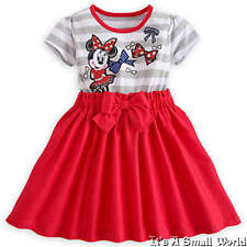 Disney Store Minnie Mouse Red & Gray Dress for Girls Size 4 NWT