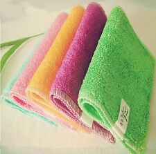 Candy Color Dish Cloth bamboo Fiber Washing Dish Towel Kitchen Cleaning Cloths