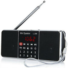 Outdoor Portable Rechargeable Stereo FM Radio Speaker MP3 Music Player TF U Disk
