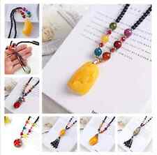 Chinese tourist attractions pendant female Long necklace Retro sweater chain