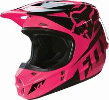 Fox Racing NEW 2016 Youth Mx V1 Race Pink Black Motocross Dirt Bike Girls Helmet