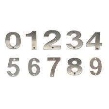 JMA Door House Number #0-9 100mm Numeral Visible Fix 304 Grade Stainless Steel