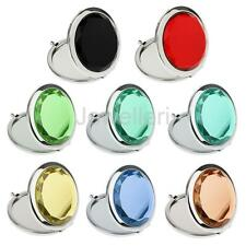 Metal Round Double Side Mirror Make up Cosmetic Magnifying Pocket Compact Mirror