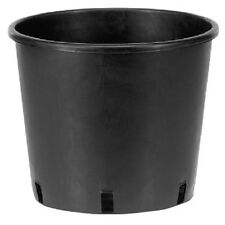 BLACK Small Large Plastic Plant Pot Tall Planter Outdoor Garden Container Pot