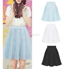 Fashion Sexy Women High Waist Summer A-Line Skirt Casual Party Short Mini Dress