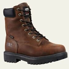"Timberland PRO Boots Mens Direct Attach 8"" Soft Toe Waterproof Insulate Brown"