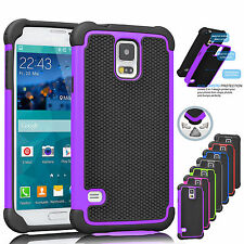 Hybrid Protective Rugged Rubber Hard Case Cover for Samsung Galaxy S5  i9600