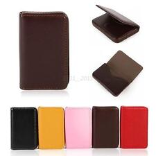 New Business ID Credit Card Wallet Holder PU Leather Pocket Waterproof Case Box