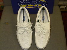 MENS DEK WHITE MOCCASSIN STYLE BOWLING SHOES SIZES  7