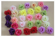 100X Roses Artificial Silk Flower Heads Wholesale Lots for Clips Wedding