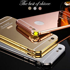 Luxury Aluminum Ultra-thin Mirror Metal Case Cover  For Apple iPhone 5 6 6S Plus