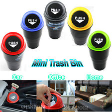 Car Vehicle Home Mini Driving Garbage Dust Case Trash Waste Rubbish Bin Can Bag