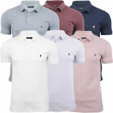 Mens French Connection/ FCUK Marlon Pique Polo T-Shirt Mini Collar