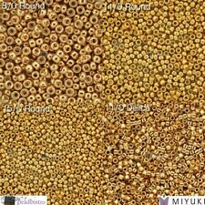 MIYUKI 24K GOLD PLATED Seed Beads - Round (191) & Delica (031) Seed Beads