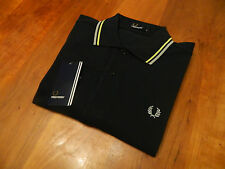 NEW GENUINE Fred Perry Mens Polo Shirt Navy Blue - RRP £55