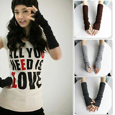 Hot Women Winter Wrist Arm Hand Warmer Knitted Long Fingerless Gloves Mittens P