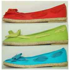 CORAL BLUE BALLET FLATS NEW45€ espadrille sandals slip-on peep-toes summer shoes