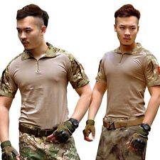 Men Summer Army Combat Military Tactical T-Shirt Short Sleeve Tops Hunting Shirt