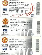PLAYERS TICKET MANCHESTER UNITED V WEST HAM UNITED  27-2-2010