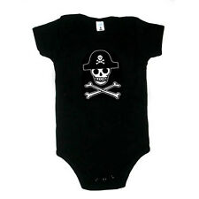 Baby Pirate Rummy Skull and Bones One Piece Size 3m - 24m Black and Pink