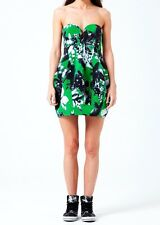 BNWT - SHAKUHACHI | PHOTOGRAPHIC GREEN TULIP STRAPLESS DRESS - RRP$320
