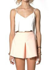 BNWT - SHAKUHACHI | STRAPPY LEATHER CROP TOP - RRP$250