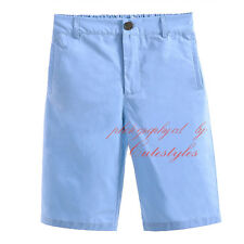 Boys Chino Shorts Kids Cotton Summer Knee Length Half Pant Candy Color Age 2-9