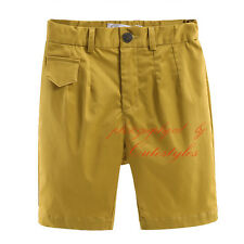 Boys Fashion Plain Shorts Kids Bermuda Shorts Knee Length Pants Age 2-9 Years
